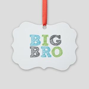 Sketch Style Big Bro Picture Ornament