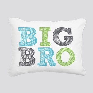 Sketch Style Big Bro Rectangular Canvas Pillow