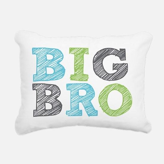 Sketch Style Big Bro Rectangular Canvas Pillow