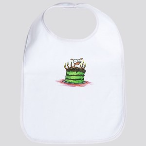 weiner dog on a birthday cake Bib