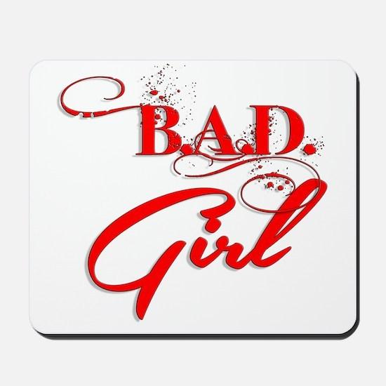 Red Bad Girl logo Mousepad