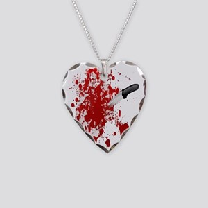 Realistic Halloween Necklace Heart Charm