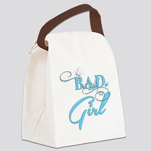 Blue Bad Girl logo Canvas Lunch Bag