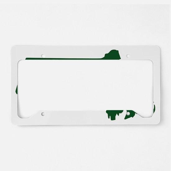 Boston Strong Bicep Green License Plate Holder