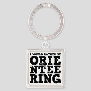Orienteering Square Keychain