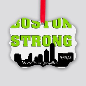 boston strong 57 green Picture Ornament