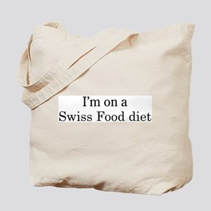 Swiss Food diet Tote Bag