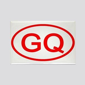 GQ Oval (Red) Rectangle Magnet