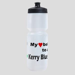 Kerry Blue Terrier Pair Sports Bottle