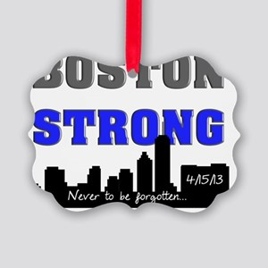 boston strong 60 blue Picture Ornament