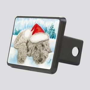 Christmas Labradoodle Rectangular Hitch Cover