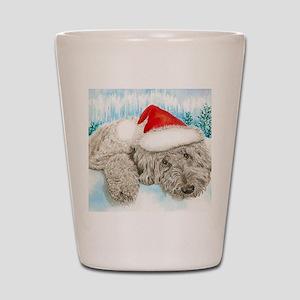 Christmas Labradoodle Shot Glass