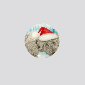 Christmas Labradoodle Mini Button