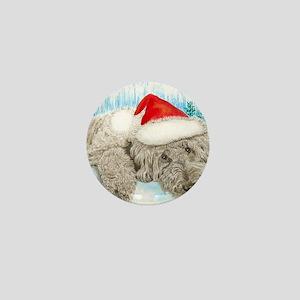 Christmas Labradoodle Mini Button