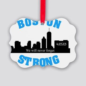boston strong curved 2 Picture Ornament
