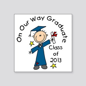 "Boy Graduate 2013 Square Sticker 3"" x 3"""