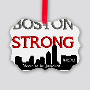 boston strong 58 Picture Ornament