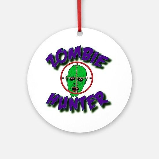 Zombie Hunter #1 Round Ornament