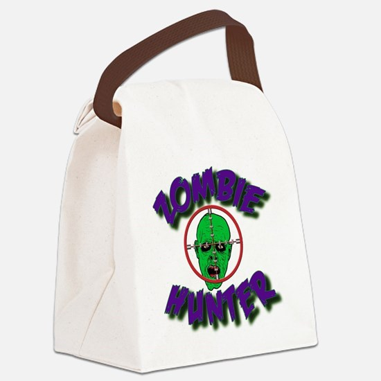 Zombie Hunter #1 Canvas Lunch Bag