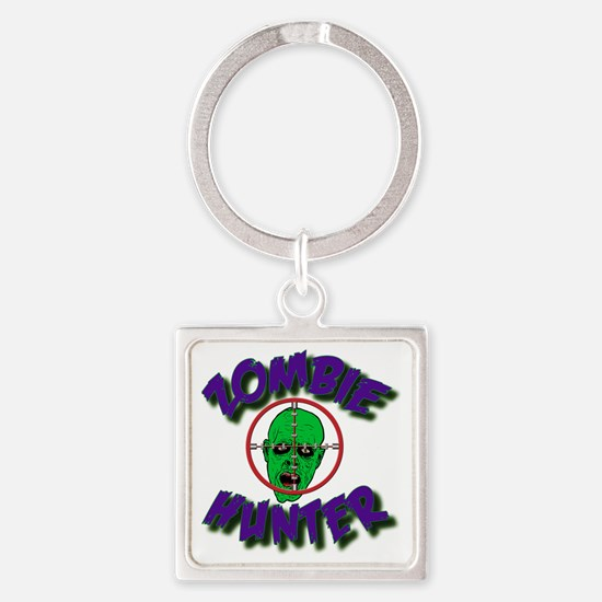 Zombie Hunter #1 Square Keychain