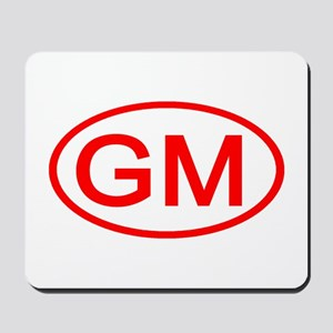 GM Oval (Red) Mousepad