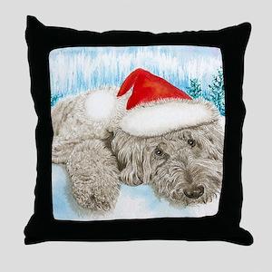Christmas Labradoodle Throw Pillow