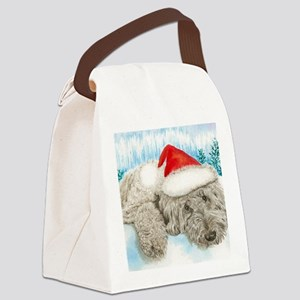 Christmas Labradoodle Canvas Lunch Bag