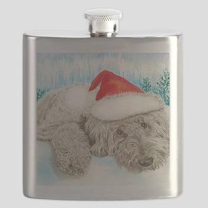 Christmas Labradoodle Flask
