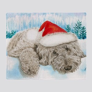 Christmas Labradoodle Throw Blanket