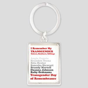 I Remember My Transgender Brothe Portrait Keychain