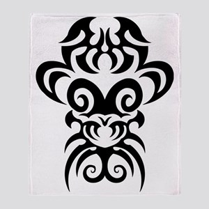 Maori tribal face Throw Blanket