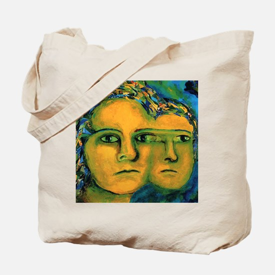 Anticipation, Abstract Golden Goddess Tote Bag