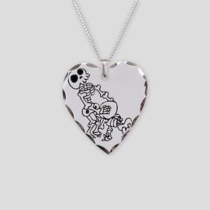 Blowjob bones Necklace Heart Charm
