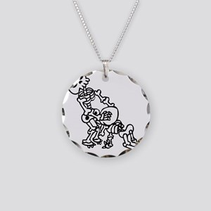 Blowjob bones Necklace Circle Charm