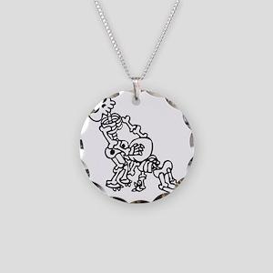 Blowjob bones Necklace Circle Charm