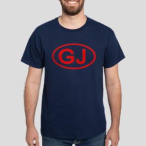 GJ Oval (Red) Dark T-Shirt