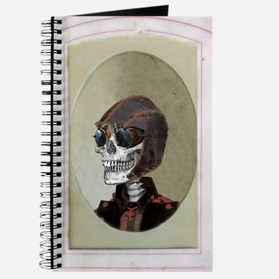 Victorian Portrait: Skull in a Flyboy Hat Journal