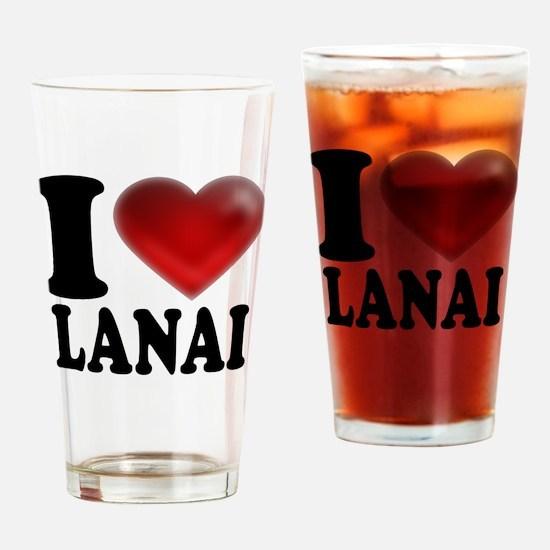 I Heart Lanai Drinking Glass