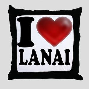 I Heart Lanai Throw Pillow