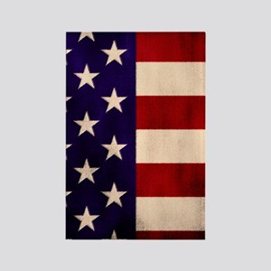 Stars and Stripes Artistic Rectangle Magnet