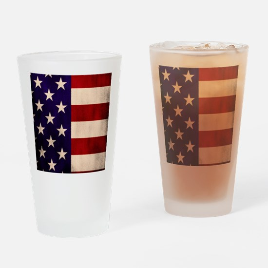 Stars and Stripes Artistic Drinking Glass