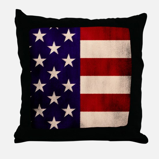 Stars and Stripes Artistic Throw Pillow