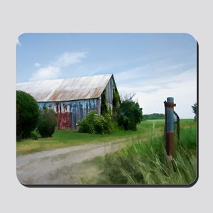 Rural Deserted Barn Mousepad