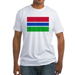 Gambia Flag T Shirts Fitted T-Shirt
