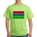 Gambia Flag T Shirts Green T-Shirt