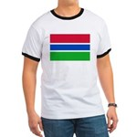 Gambia Flag T Shirts Ringer T