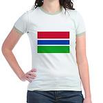 Gambia Flag T Shirts Jr. Ringer T-Shirt