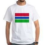 Gambia Flag T Shirts White T-Shirt