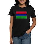 Gambia Flag T Shirts Women's Dark T-Shirt