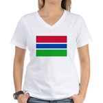 Gambia Flag T Shirts Women's V-Neck T-Shirt